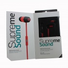 Sonun SN-IP2 In-Ear Stereo Earphone w/ Microphone for IPHONE / Samsung / HTC - Black + Red