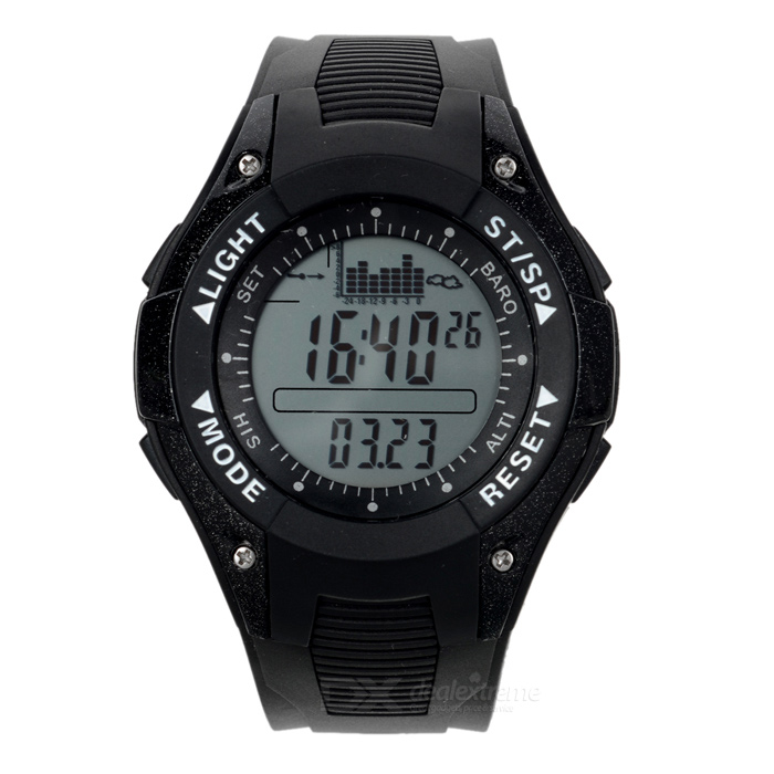 Foxguider FX702B Outdoor Fishing Quartz Digital Watch - Black + White
