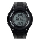 Foxguider FX702B Outdoor Fishing Quartz Digital Wrist Watch / Barometer / Altimeter - Black + White