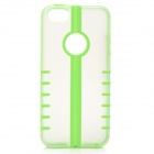 Newtons Stylish PC + TPU Back Case for IPHONE 5 / 5S - Green + Transparent
