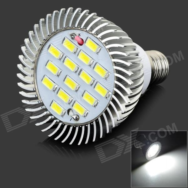 LeXing LX-SD-060 6W 420lm 7000K 15-SMD 5730 LED White Spotlight Bulb (220~240V) lexing lx qp 20 e14 6w 470lm 3500k 15 5730 smd led warm white light dimmable lamp ac 220 240v