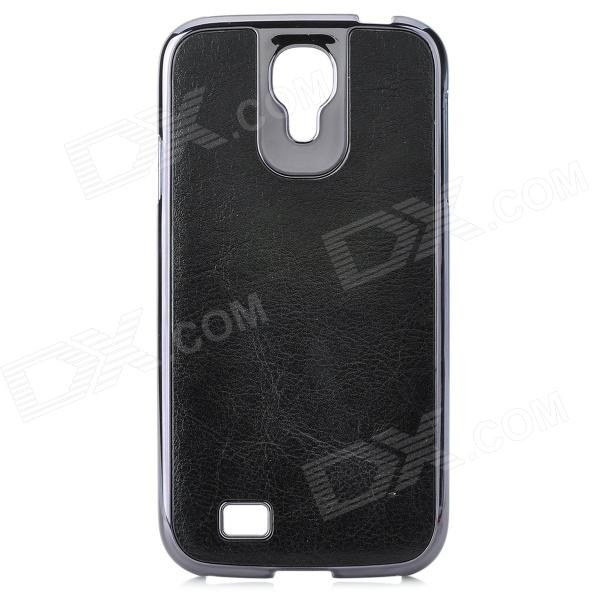 Protective PC + PU Leather Case for Samsung Galaxy S4 i9500 - Black cm001 3d skeleton pattern protective plastic back case for samsung galaxy s4
