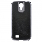 Protective PC + PU Leather Case for Samsung Galaxy S4 i9500 - Black