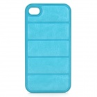 NEWTONS Protective PU Leather + Plastic Back Case for IPHONE 4 / 4S - Light Blue