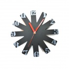 HQS-Y23461 Ferris Wheel Fashion Simple Analog Clock - Black (1 x AA)