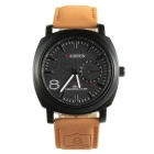CURREN 8139 Fashion PU Leather Band Quartz Analog Wrist Watch for Men - Brown + Black (1 x 626)