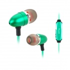 Power4 EP001 In-Ear Earphone w/ Microphone / Visible EL Flowing Light - Apple Green