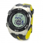 Spovan Blade5-A Multifunction Waterproof Sport Quartz Digital Wrist Watch - Yellow (1 x CR2025)