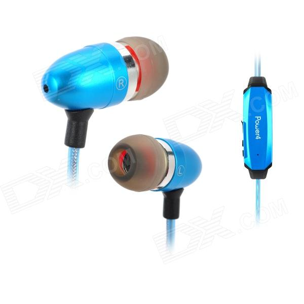Power4 EP001 In-Ear Earphone w/ Microphone / Visible EL Flowing Light - Blue trendwoo® twins bluetooth wireless speaker support 2 0 left and right stereo sound surround with built in microphone hands free music player