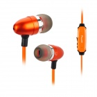 Power4 EP001 In-Ear Earphone w/ Microphone / Visible EL Flowing Light - Orange