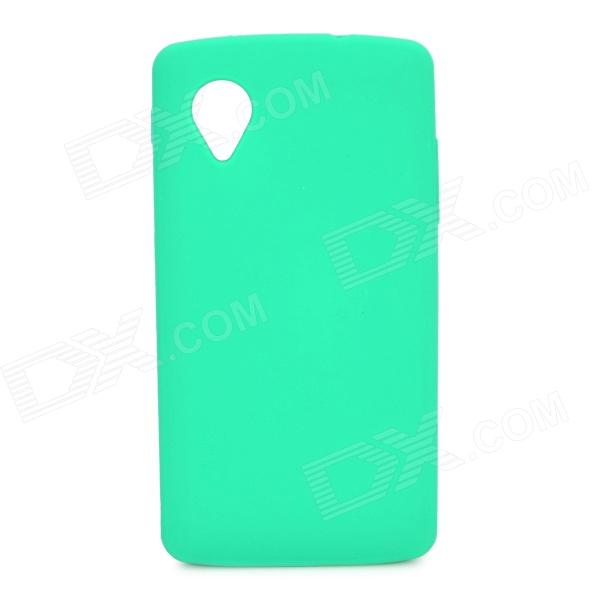 Stylish Protective Silicone Back Case for LG Nexus 5 - Green stylish bubble pattern protective silicone abs back case front frame case for iphone 4 4s