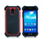 2-in-1 Sports Ball Skin Protective Plastic + TPU Case for Samsung Galaxy S4 Mini i9190 - Red + Black