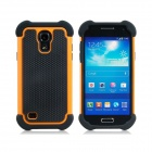 2-in-1 Sports Ball Skin Protective Plastic + TPU Case for Samsung Galaxy S4 Mini - Yellow + Black