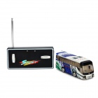 WLTOYS 5020 Mini 1:64 4-CH R/C Bus w/ Remote Control - White + Green