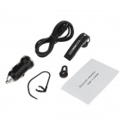 Bluedio T20 Ear-Hook Bluetooth v3.0 Headset w/ Microphone + Car Charger - Black