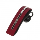 Bluedio T20 Ear-Hook Bluetooth V3.0 Headset w/ Microphone + Car Charger - Red