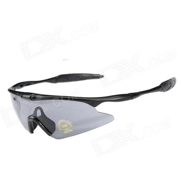 ESDY Sports Cycling PC Lens Sunglasses - Black + Grey