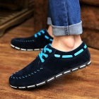 2014 Spring / Summer Canvas Men's Shoes - Black Blue (Size-43)