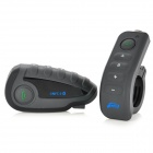V8 Motorcycle Helmet Intercom Bluetooth Headset w/ Remote/ NFC - Black