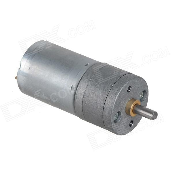 ZnDiy-BRY DC 12V 500RPM / DC 6V 250RPM High Torque Gear Motor - Silver zndiy bry dc 12v 3 5rpm 37mm high torque gear box electric motor silver