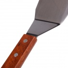 905 Wood Handle Stainless Steel Cooking Spade - Brown + Silver