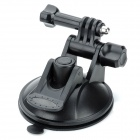 180?? Rotation Car Mounted  PC Holder w/ 80mm diameter Suction Cup for Gopro Hero 4/ 2 / 3 / 3 + -Black