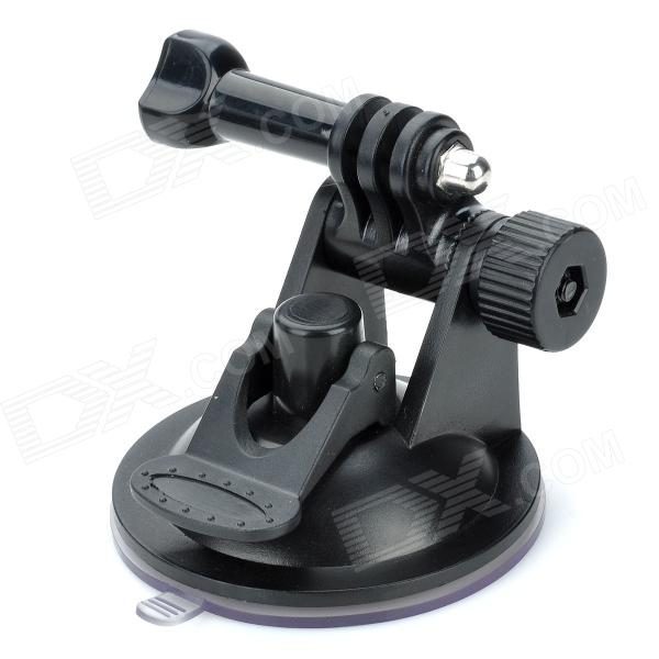 180?? Rotation Car Mounted PC Holder w/ 70mm Diameter Suction Cup for Gopro Hero 4/ 2 / 3 / 3 + - Black