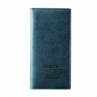 Casual Style Long PU Leather Purse Wallet - Blue