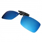 Reedoon 2202 Foldable Blue Resin Lens UV400 Protective Sunglasses - Black + Blue