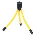 "Universal Mini Portable Desktop Flexible Leg 1/4"" Tripod for Camera - Yellow"