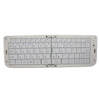 Flower Show K-09 Portable  Folding Wireless Bluetooth V3.0 68-Key Keyboard - White