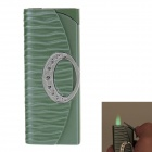 Handbag Style Windproof Butane Lighter - Green + Silver