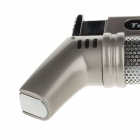 C400033 Aluminum Alloy vindtett butan lighter - Silver Gray