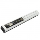"0.8"" LCD Wireless Handheld A4 Handy Scanner w/ Micro USB + TF Card Slot - White + Black"