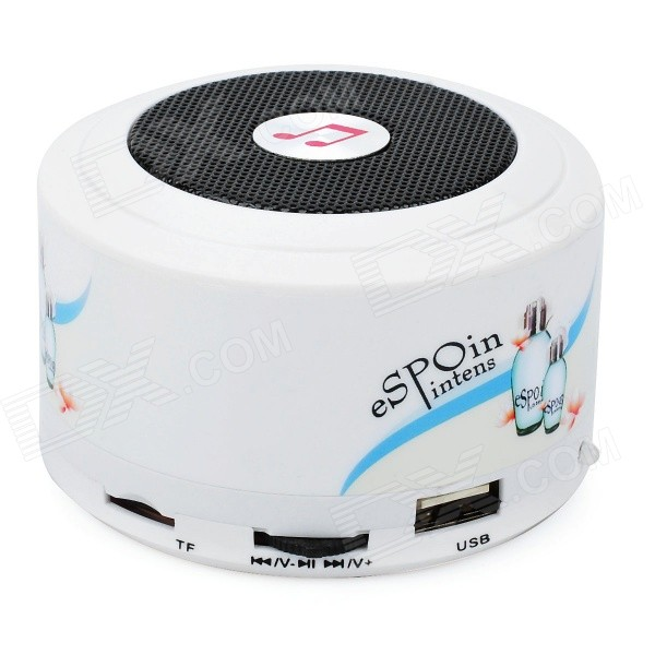 SJL-07 Mini Music Speaker w/ FM / USB / TF Slot - White
