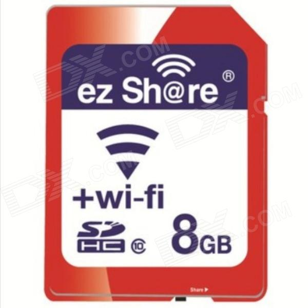 ez Share SDHC Bandwidth 54Mbps Wi-Fi SD Card Memory Card - Red (Class 10 / 8GB) uwinka mc u6c multi in 1 water resistance shockproof memory card storage box red