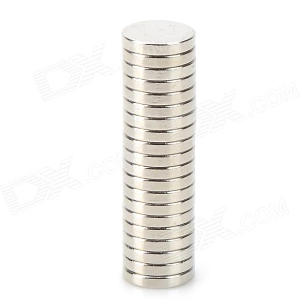 10mm x 2mm Super Strong Round Magnets - Silver (20 PCS)