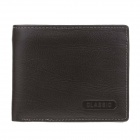C.S.C HB226CI Fashion Men's Superior Cowhide Purse Wallet - Dark brown