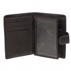 C.S.C CS365GI Fashion Buckle Design Men's Cowhide Purse Wallet - Dark brown