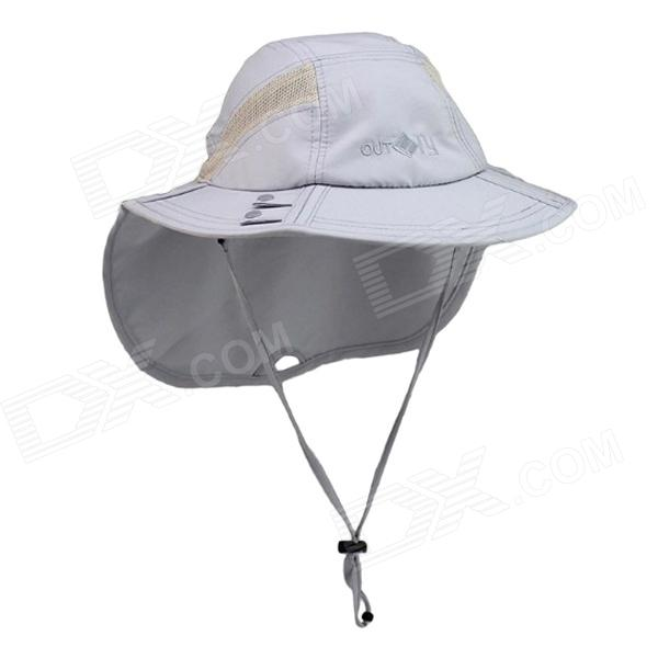 OUTFLY B13009 Foldable Quick-dry Dacron Sports Spring and Summer Hat for Women - Light Grey