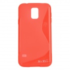 YI-YI Protective S Style TPU Back Case for Samsung Galaxy S5 i9600 - Red