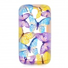 Hollow Out Butterfly Silicone Back Case for Samsung Galaxy S4 i9500 - Multicolored