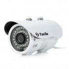 YanSe YS-881CEW 1/3 CMOS 1200TVL 3.6mm Lens Outdoor IR Camera w/ 36-IR LED / IR-CUT - White