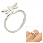Stylish Dragonfly Style Silver Ring for Women - Silver