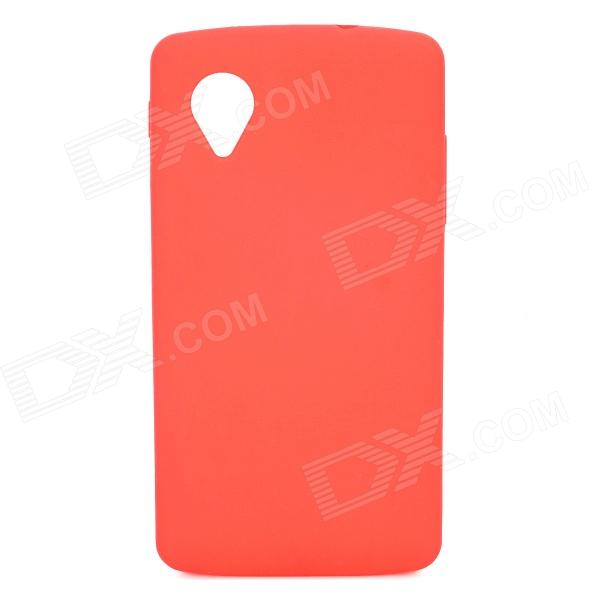 Protective Silicone Back Case for LG Nexus 5 - Red protective silicone back case for lg nexus 5 translucent white