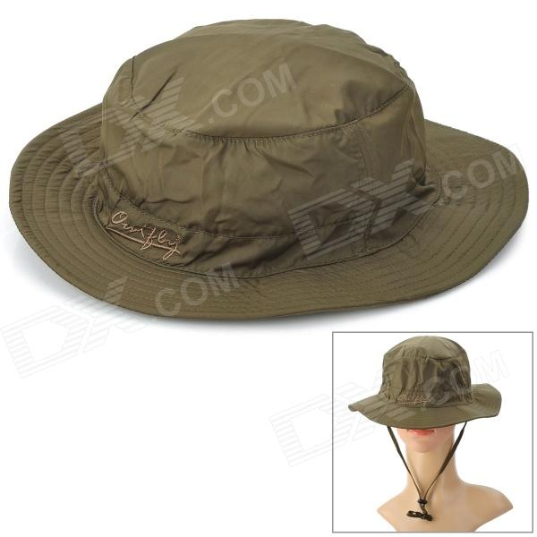 OUTFLY B09004 Quick Dry Mountaineering Travel Bush Hat Cap - Beige (Free Size)