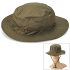 OUTFLY Quick Dry Mountaineering Travel Bush Hat Cap - Army Green (Free Size)