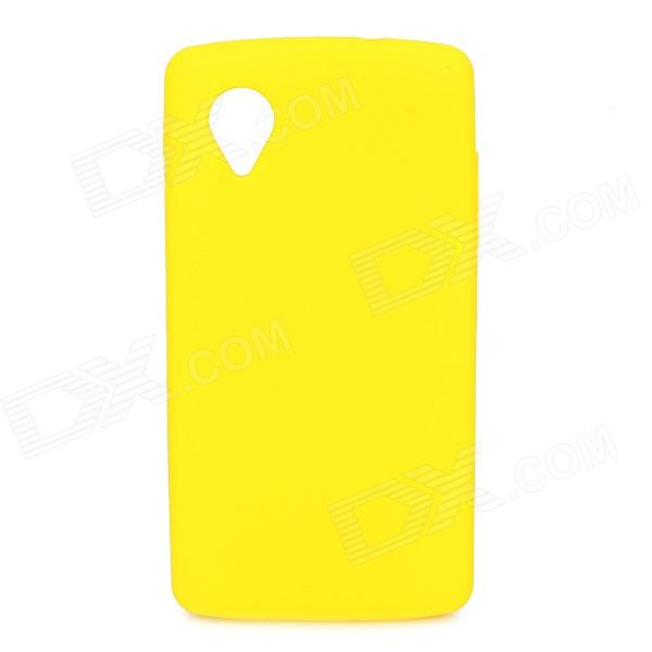 Protective Silicone Back Case for LG Nexus 5 - Yellow protective silicone back case for lg nexus 5 translucent white