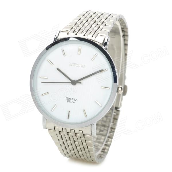longbo ultra thin stainless steel quartz wrist watch for men longbo ultra thin stainless steel quartz wrist watch for men silver
