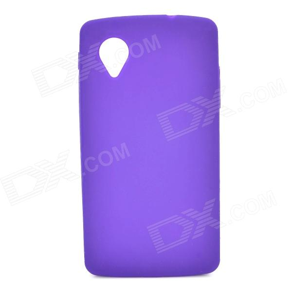 Protective Silicone Back Case for LG Nexus 5 - Purple protective silicone back case for lg nexus 5 translucent white